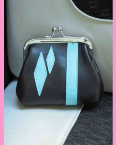 Black and blue Dollface Bettie Coin Purse