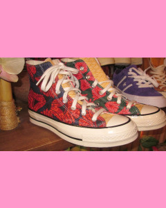 Floral Black Converse 70´s All Star Chucks