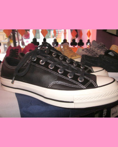 Black Leather 70´s All Star Ox Converse