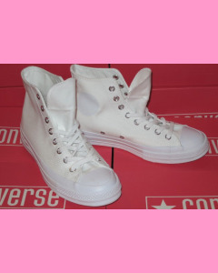 All White Converse 70`s All Star Hi