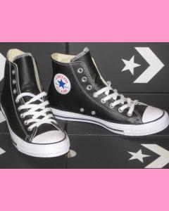 Black Leather 90´s Evergreen All Stars Hi Converse