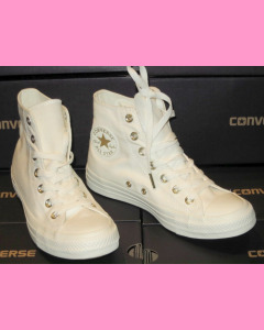 Egret Gold Converse All Star Hi