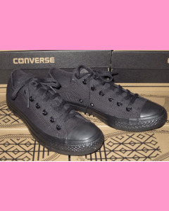 Black Monochrome Converse All Star Ox