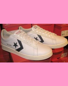 White Pro Leather Converse Ox