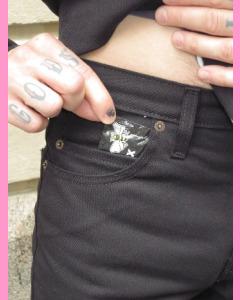 Black Dickies Slim Skinny 810 Five Pocket Pants