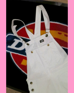 White Dickies Purdon Bib Overall