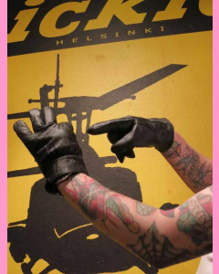 Dickies Black Memphis Leather Gloves
