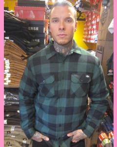 Pine Green Dickies Lansdale Sherpa Shirt Jacket
