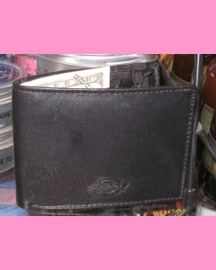 Dickies Wilburn Leather Wallet, Black