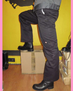 Black Double Knee Work Pants