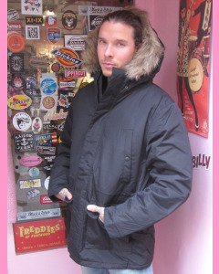Black Dickies Curtis Parka Jacket