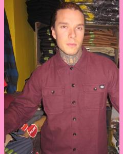 Maroon Dickies Glenville Shirt