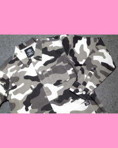White Camo Dickies Kempton Shirt