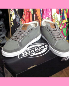 Charcoal Dickies New Jersey Low Canvas Shoes
