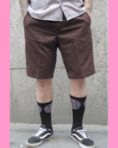 Chocolate brown Dickies `67 Industrial Work Shorts