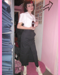 Black Dickies Salvisa Skirt
