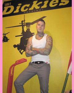 Gravel Gray Dickies Slim Skinny 803 Work Pants