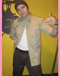 Dark Brown Dickies Slim Straight 873 Work Pants