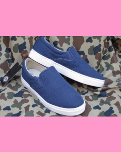 Navy Blue Dickies Kansas Slip On Shoes