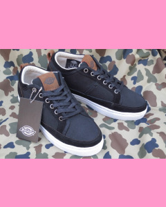 Black Dickies New Jersey Low Canvas Shoes