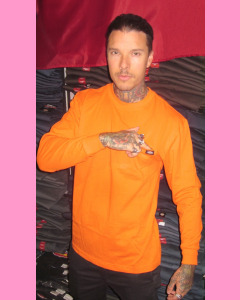 Orange Dickies Heavyweight Long-Sleeve Pocket T-Shirt