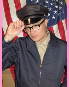 Dark navy Eisenhower Work  Jacket
