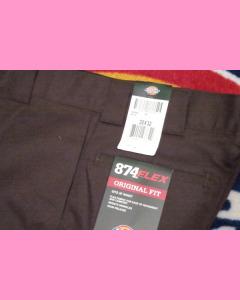 Dark Brown Dickies 874 Flex Work Pants