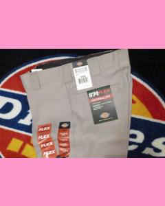 Silver Grey Dickies 874 Flex Work Pants