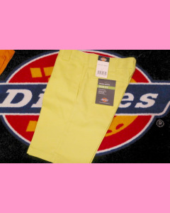 Dusk Yellow Dickies Slim Straight Work Shorts