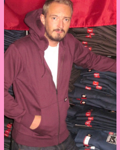 Dickies New Kingsley Zip  Hood, Maroon