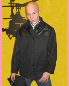 England melton Donkey Jacket with PVC shoulders