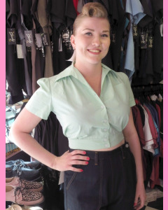Mint Freddies of Pinewood Work Blouse