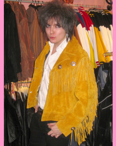 Yellow Suede Fringe Jacket
