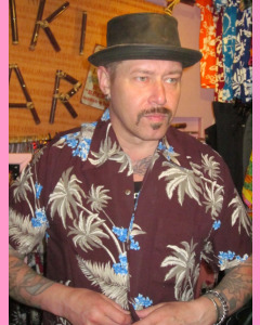 Burgundy Atlanta Hawaiian Shirt