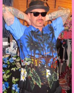 Blue California Hawaiian Shirt