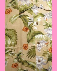 Cream Kaho Hawaiian Shirt