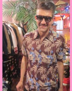 Burgundy Bondi Hawaiian Shirt