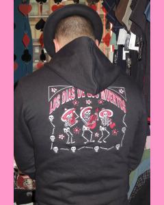 Dias De Los Muertos embroidery on the back