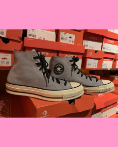 Grey Ash Stone Converse 70's Hi Sneakers