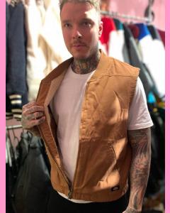 Dickies Sherpa Lined Vest, Brown Duck