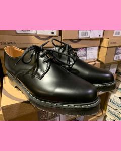 Black Hi Shine Solovair 3 Hole Gibson Shoes
