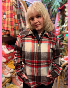 Freddies of Pinewood Plaid Zip Jacket