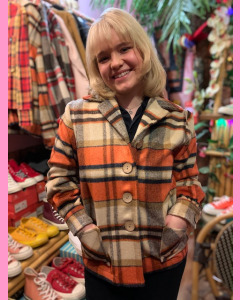 Freddies of Pinewood Plaid Button Jacket