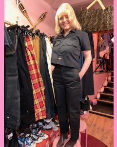 Black Dickies 873 Cropped Ladies Work Pants