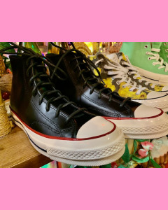 Converse 70´s All Star Hi, Black Leather