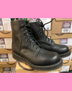 Black Softy Grain Solovair 8 Eye Derby Boot