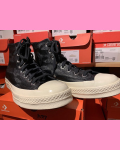 Black dune Leather Converse 70's Hi Sneakers