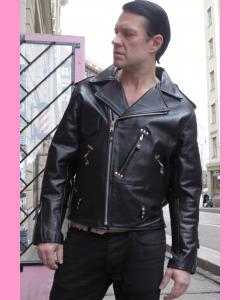 Black Studded Brando Jacket