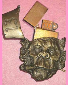 Smoking Chimp Buckle