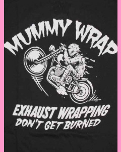 Mummy Wrap print on the front